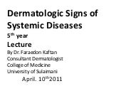 Dermatology 5th year, 3rd lecture (...