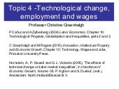 Technological change, employment an...