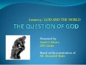 L9 the question of god