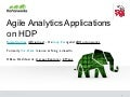 LA HUG - Agile Analytics Applications on HDP