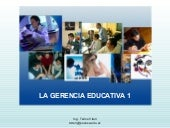 La Gerencia Educativa