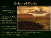 Lab 5 Origin Of Plants
