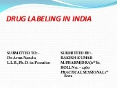 Labeling in india