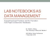 Lab Notebooks as Data Management (S...