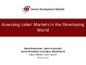 Labor Markets Core Course 2013: Ass...