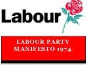 Labour party manifesto 1974