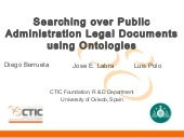 Searching over Public Administration Legal Documents using Ontologies