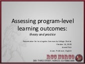 Laccd Program Assessment