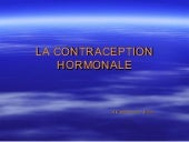 La contraception hormonale