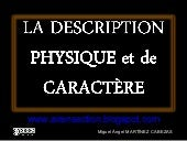 La description physique et de carac...