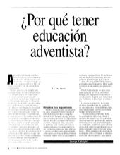 La educacion adventista