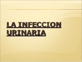 La infeccion urinaria