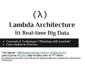 Lambda architecture for real time big data