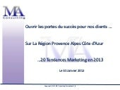 20 tendances marketing en 2013