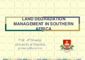 Land degradation mgt