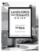 Texas Landlords and Tenants Guide -...
