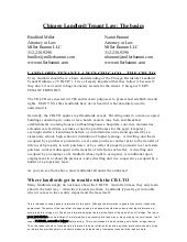 Landlord Tenant Law Handout 2