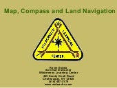 Land Navigation With Map And Compass