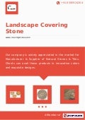 Landscape covering-stone