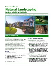 Resource Efficient Natural Landscap...