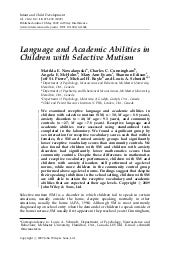 ). Language and academic abilities ...