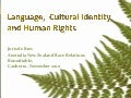 Language and human rights