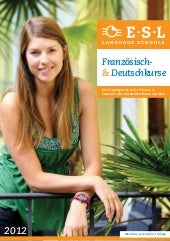 Language courses abroad brochure