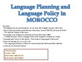 Language policy and language planni...
