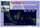 Review Status MDGs 2007 di Indonesia