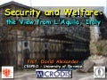 Security and Welfare: L'Aquila