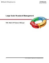 Large Scale Password Management Wit...