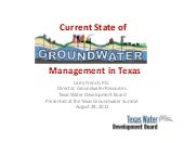 Current State of Groundwater Manage...