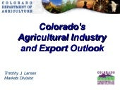 Connecting Colorado's Economy: Agri...