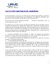 Las leyes inmutables del marketing ...
