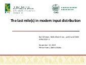 The last mile(s) in modern input di...