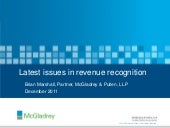 Latest issues in revenue recognitio...