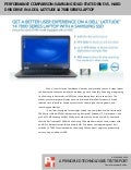 Performance comparison: Samsung solid-state drive vs. hard disk drive in a Dell Latitude 14 7000 Series laptop