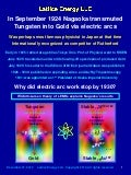 Lattice Energy LLC - Mystery of Nagaokas 1920s Gold Experiments - Why Did Work Stop by 1930 - Dec 27 2013