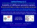 Lattice Energy LLC - Scalability of LENR power generation systems - Nov 29 2015
