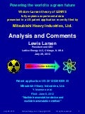 Lattice Energy LLC-Widom-Larsen Theory Explains Data Presented in New Mitsubishi US Patent Application-July 28 2013