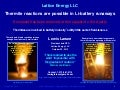 Lattice Energy LLC - XXXX Admits Thermite Reactions Possible in Li-ion Battery Runaways-Oct 20 2013