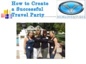 How To Create Travel Party