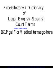Law english-spanish