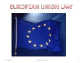 Law making in the e.u