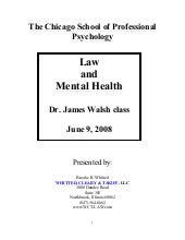 Law & mental health