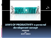 Laws of productivity a personal development concept