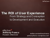 The ROI of User Experience