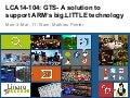 LCA14: LCA14-104: GTS - A solution to support ARM's big.LITTLE technology