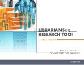 Librarians Do Research Too! — Download the free ebooklet from Carol Tenopir & Library Connect