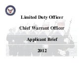 LDO CWO brief PRESENTATION